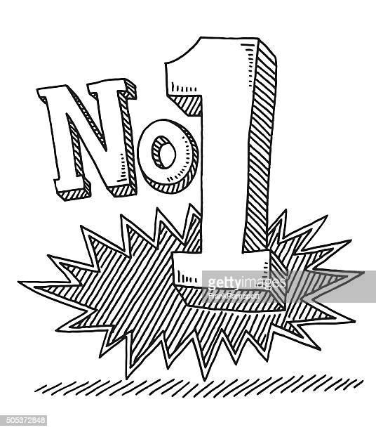 No 1 Text Drawing
