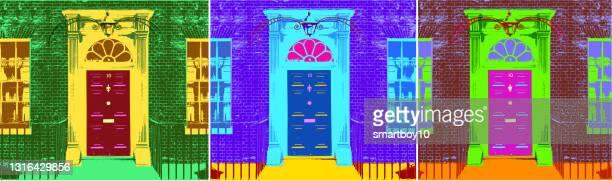 no 10 ダウニング ストリート - セントラル・ロンドン点のイラスト素材/クリップアート素材/マンガ素材/アイコン素材