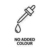 no added colour icon - vector illustration.