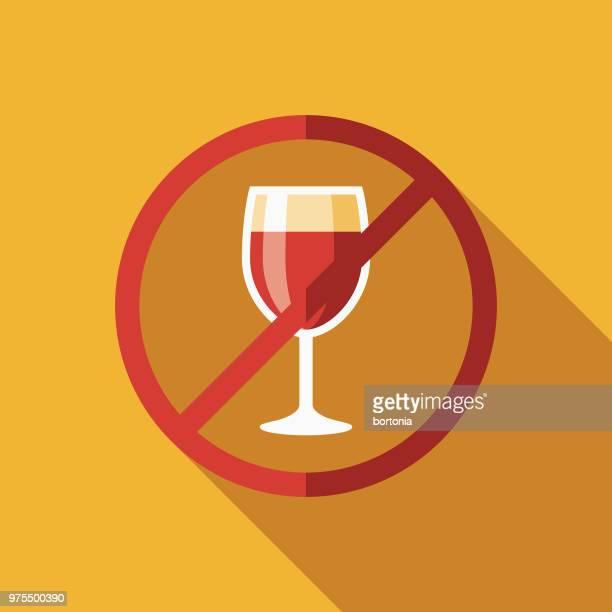 ilustrações de stock, clip art, desenhos animados e ícones de no alcohol flat design ramadan icon - bebida alcoólica