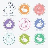 No animals testing icon design