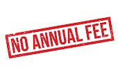 No Annual Fee rubber stamp