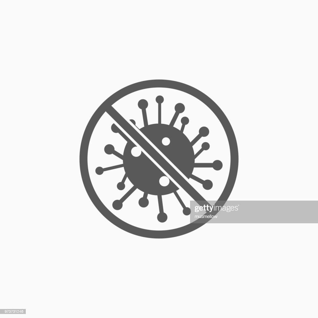 no bacteria icon