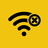 No connection. Wi-fi sign with off signal