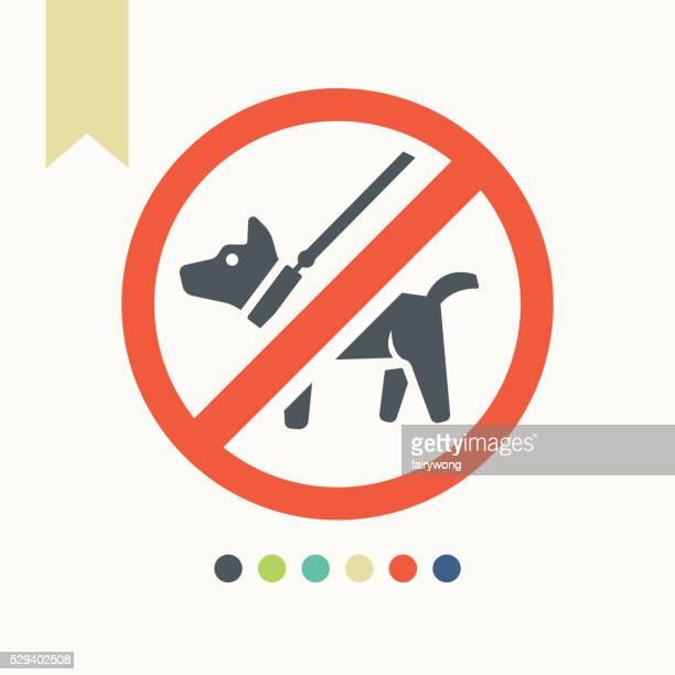 no dog icon. dog walking fobidden symbol - young animal stock illustrations, clip art, cartoons, & icons