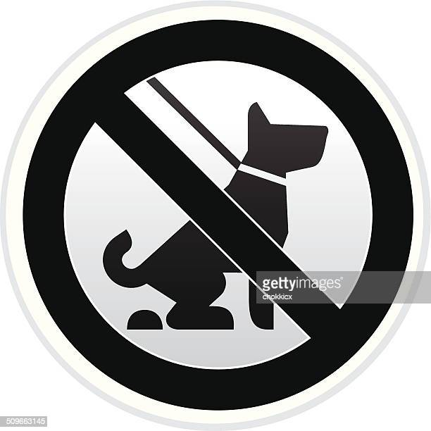 no dog pooping warning sign in black and white - defecating stock illustrations, clip art, cartoons, & icons