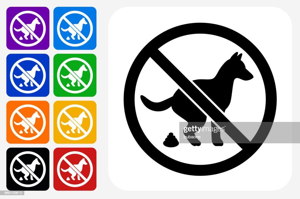 Keine Hunde erlaubt Zeichen Symbol Square Buttonset : Stock-Illustration