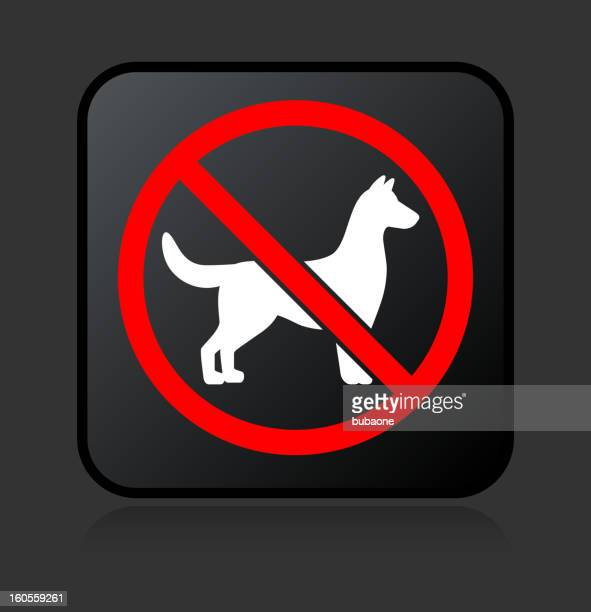 no dogs allowed sign royalty free vector icon set stickers - crossed out stock illustrations
