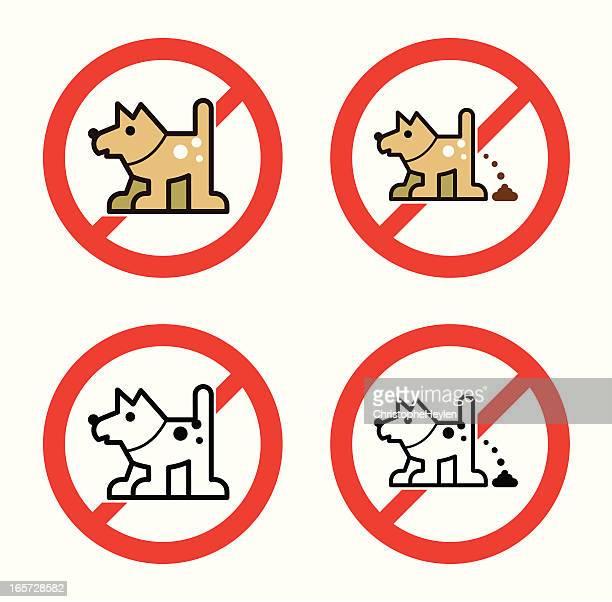 ilustraciones, imágenes clip art, dibujos animados e iconos de stock de prohibido los perros - orina