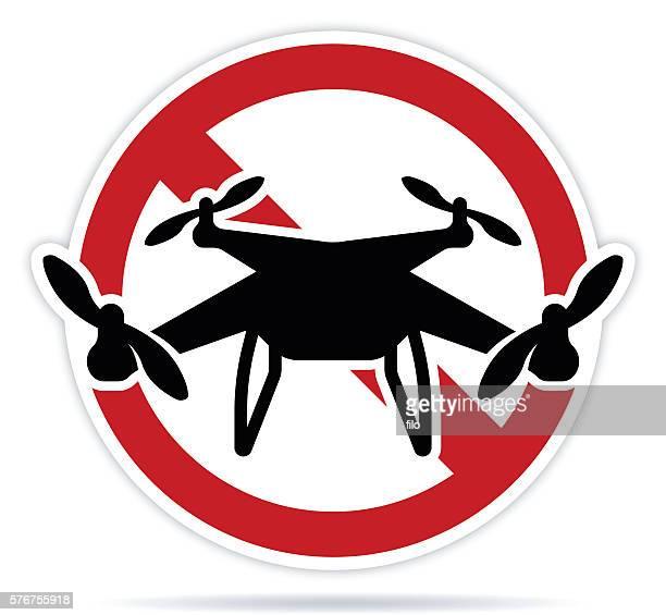 ilustraciones, imágenes clip art, dibujos animados e iconos de stock de no drones - drone
