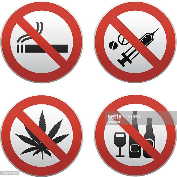 no drug sign kit - recreational drug stock illustrations, clip art, cartoons, & icons