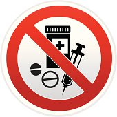 no drug sign