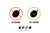 No durian signs and icons