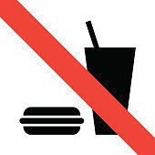 No eating icon great for any use. Vector EPS10.