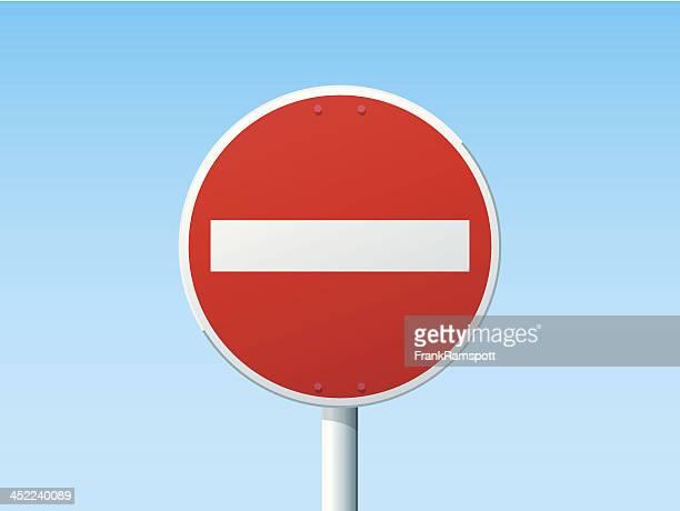 illustrations, cliparts, dessins animés et icônes de aucune entrée signe de route allemande - panneau sens interdit