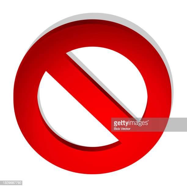 no forbidden sign vector illustration stop