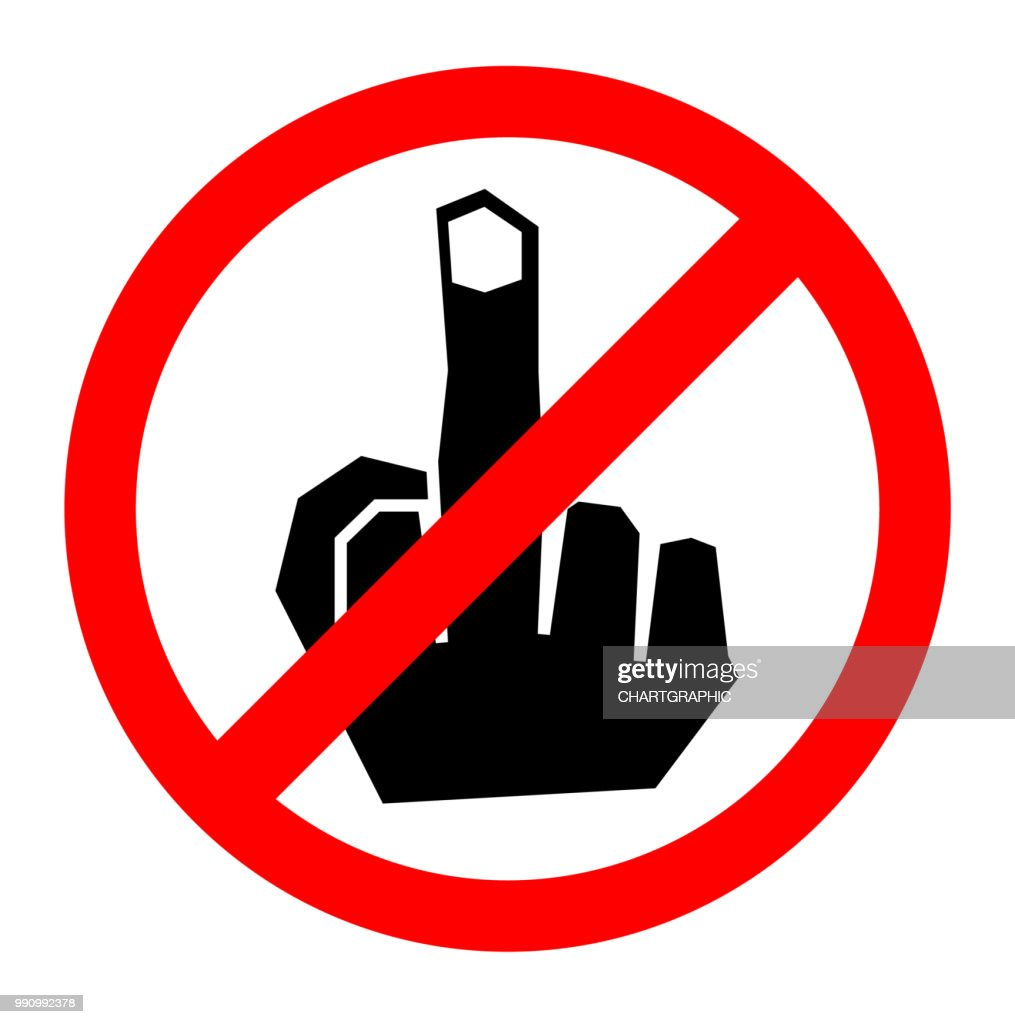No fuck finger sign icon