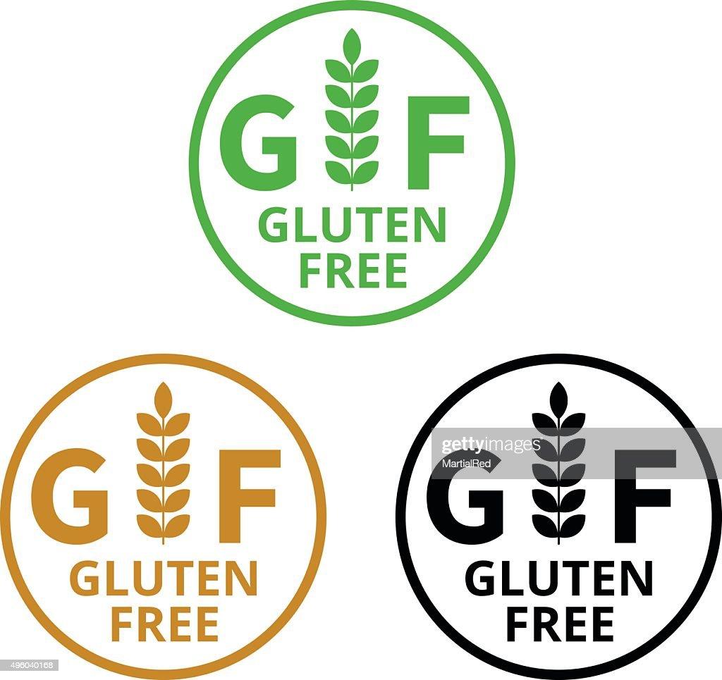 No gluten / gluten free food label or sticker flat icon