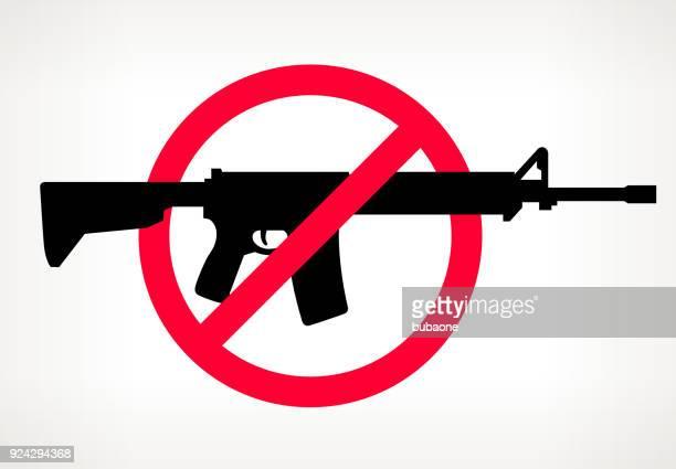 Keine Waffe Gewalt Vektor Poster