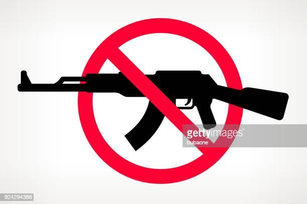 No violencia arma Vector Poster