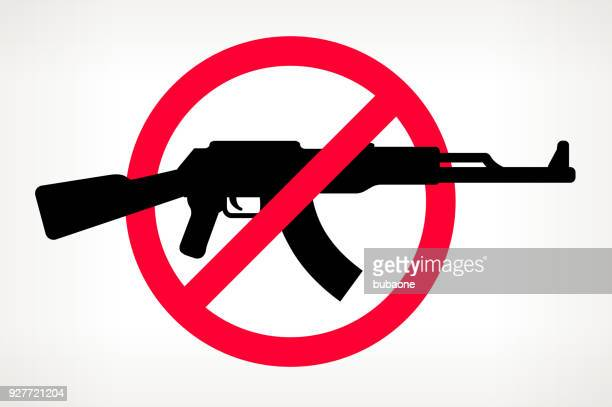 No Gun Violence Vector Poster