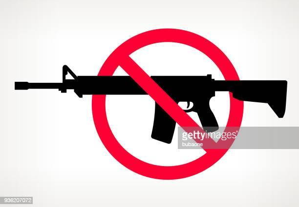 no gun violence vector poster - ar 15 stock illustrations