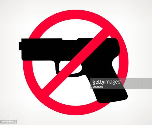 no gun violence vector poster - weaponry stock illustrations