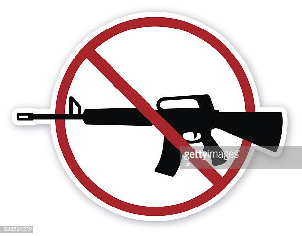 no guns - rifle stock illustrations, clip art, cartoons, & icons