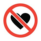 No heart icon great for any use. Vector EPS10.