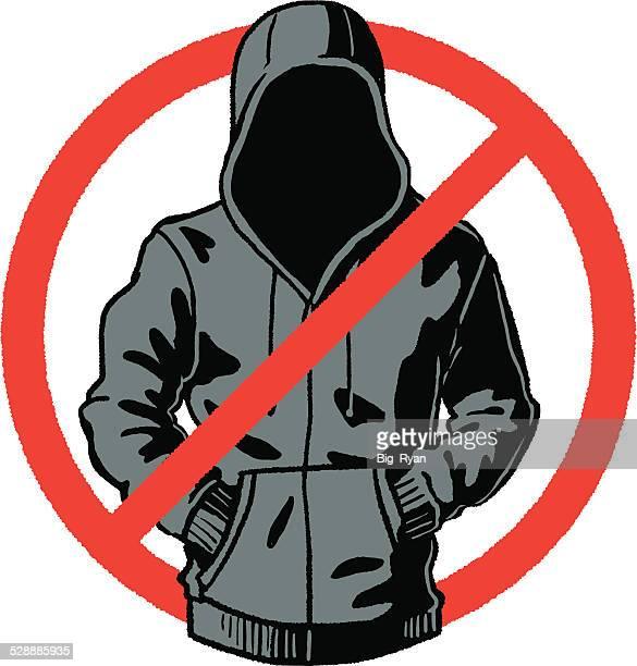 ilustrações de stock, clip art, desenhos animados e ícones de não camisolas com capuz - casaco com capuz