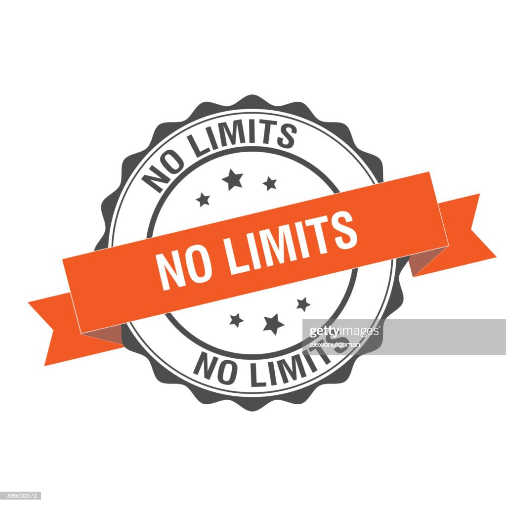 No limits stamp illustration