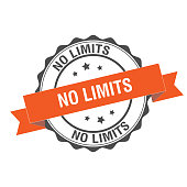No limits stamp illustration