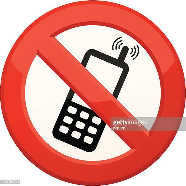 ilustrações de stock, clip art, desenhos animados e ícones de mobile''sem sinal - proibido celular