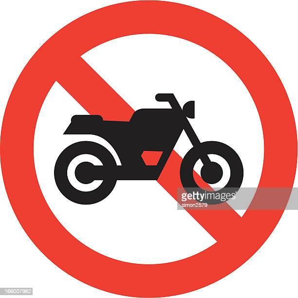 ilustrações, clipart, desenhos animados e ícones de nenhum sinal de motocicleta - proibido