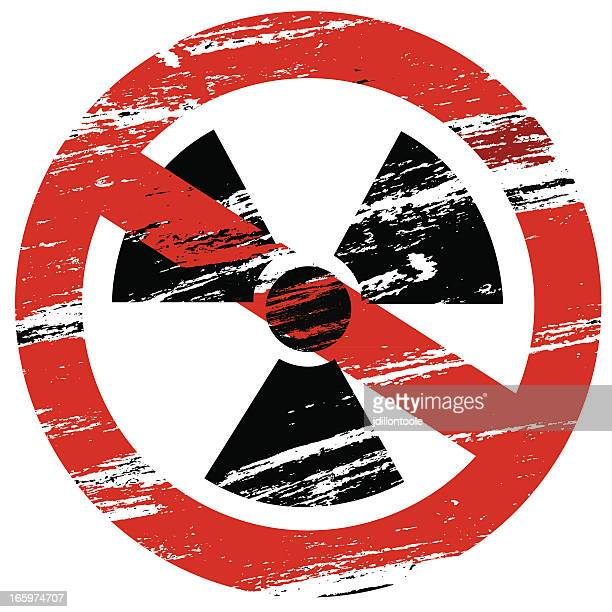 no nukes - anti nuclear demonstration stock illustrations