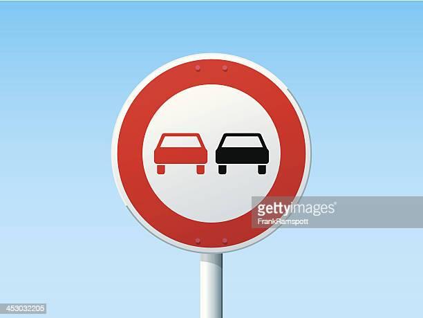 Keine überholen deutsche Road Sign