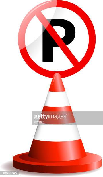 no parking sign - parking sign stock illustrations