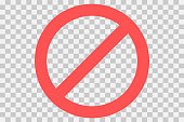 No parking sign.Do not enter sign.Restriction icon. No sign. Censor, Red prohibition vector badge. Round No symbol