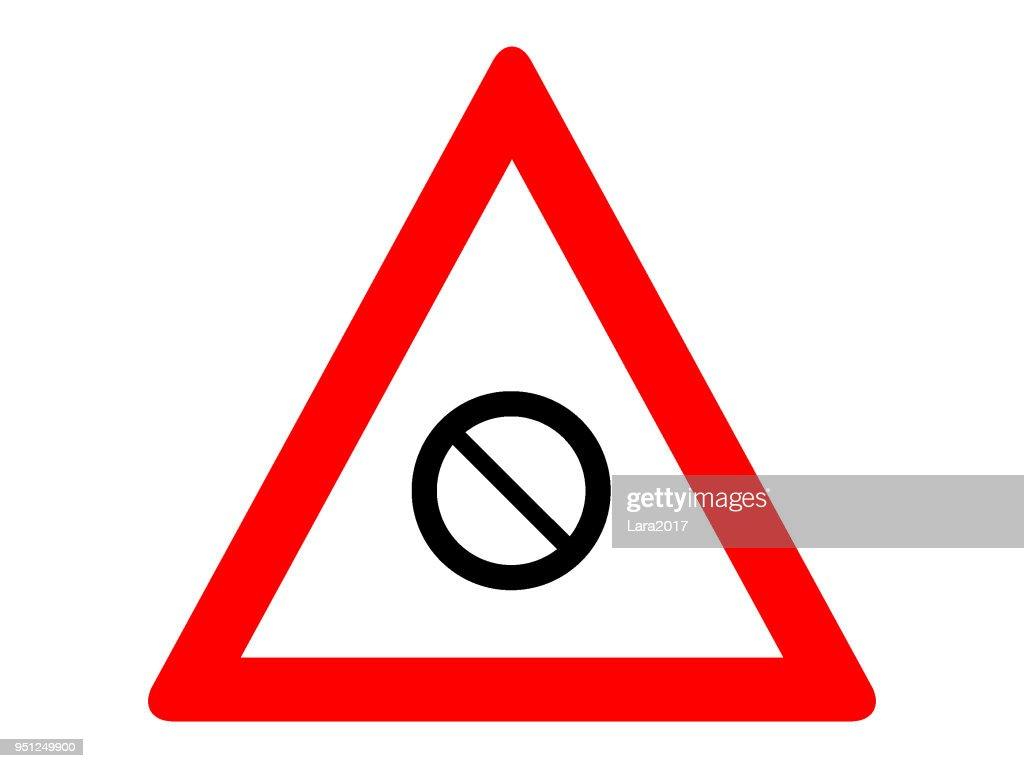 No Parking Warning Traffic Sign