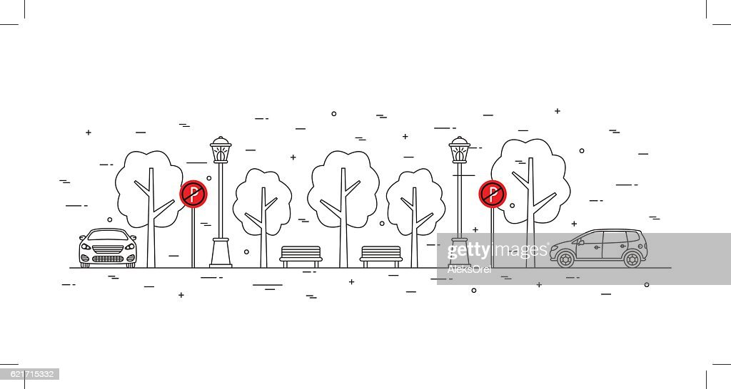 No parking zone vector illustration