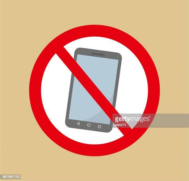 ilustrações de stock, clip art, desenhos animados e ícones de no phone talk - proibido celular