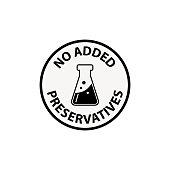 no preservative icon - vector illustration.