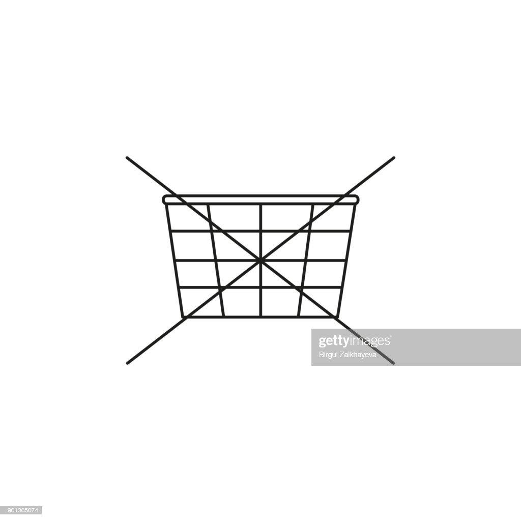 no shopping cart icon, vector illustration. no shopping icon