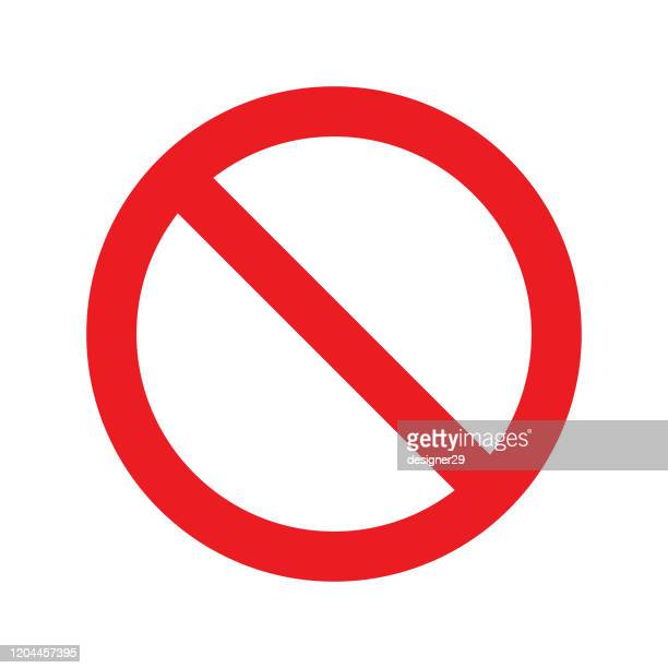no sign icon. red crossed circle vector design. - forbidden stock illustrations