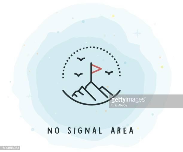 Kein Signal Bereich Symbol mit Aquarell-Patch