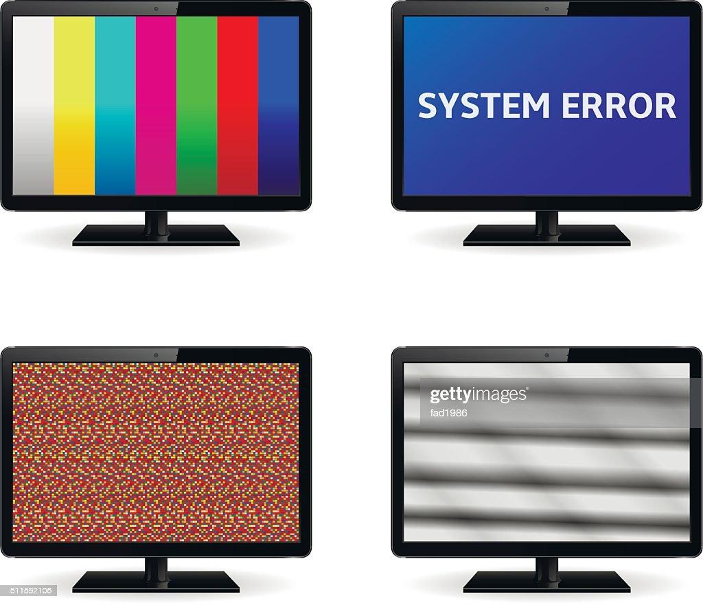 No Signal on LCD Monitor Screens