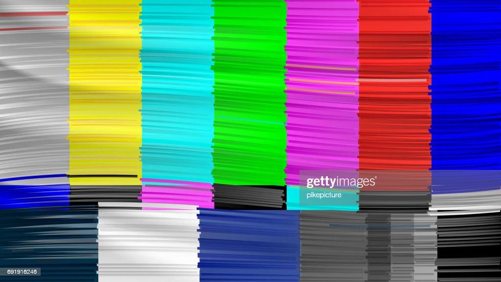 No Signal TV. Descendant Network. No signal. Distorted glitch TV. Vector Illustration