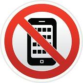 no smart phone sign