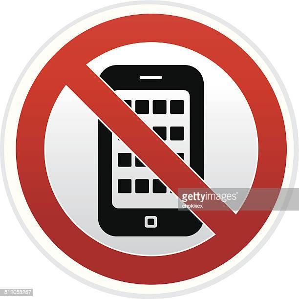ilustrações de stock, clip art, desenhos animados e ícones de qualquer telefone inteligente de - proibido celular