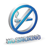 No smoking 3d Glossy Vector Icon Design